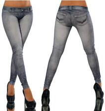 Hot Sale Strenchy Fitness Casual Punk Jeggings Trend Solid Leggings Sexy Jeans