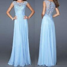 Lace Bridesmaid Prom Ball Gown Formal Evening Party Cocktail Long Maxi Dress