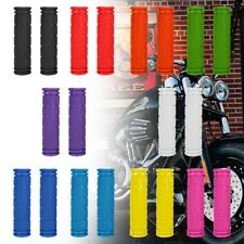 1 Pair Motorcycle Scooter Bicycle Anti-Slip Soft Rubber Handlebar Hand Grips US