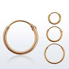 Hinged Rose Gold Plated Sterling Silver Nose Ring Hoop 22 Gauge 22G