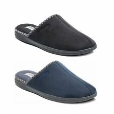 Padders LUKE Mens Microsuede Wide (G) Fitting Comfy Slip On Mule Slippers