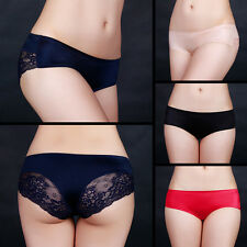 Women Briefs Underwear Panties Low Rise Underpants Sexy Lace Lingerie Bottoms OP