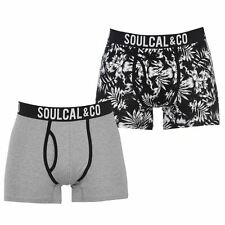 SoulCal Mens Floral Trunks Boxers Underwear Elasticated Waist Accessories