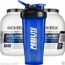 2 x 2.28kg 2280g 5lbs Sci MX Whey ULTRA Pure Protein Sci-Mx ISO + FREE SHAKER V3