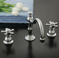 Rio Grande Bathroom Faucet Double Handle with Drain Assembly