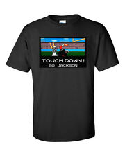 Touchdown Bo Jackson Retro CLASSIC T-Shirt Raiders Tecmo Bowl Game Tee S-5XL New