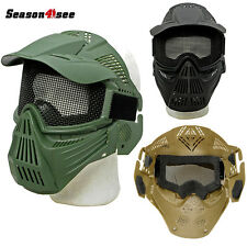 Tactical Military Full Face Mask Wire Mesh Eyes Protective Outdoor CS Paintball