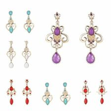 Fashion Bohemia Retro Crystal Pearl Drop Dangle Earrings Women Wedding Jewelry