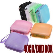Portable 40 Disc CD DVD Storage Zipper Bag Case Hard Box Wallet Album Holder TB