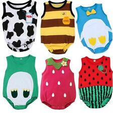 CUTE Baby Boy Girl Animal Romper Infant Jumpsuit Bodysuit Clothes Newborn Outfit