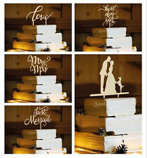 Rustic Wood Cake Topper Wedding Decor-Mr&Mrs, Love, Best Day Ever, Just Married
