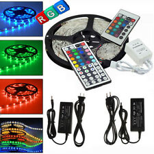 5M 5050 RGB SMD 300 LED Flexible Strip Light + 24/44 Keys IR Remote+12V 5A Power