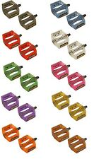 """PAIR BICYCLE PEDALS 9/16"""" Translucent Resin Body CRUISER BMX MTB BIKES CYCLING"""
