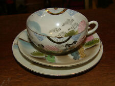 japanese hand painted eggshell china cup saucer and plate very delicate