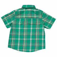 Lee Cooper Kids Check Shirt Infant Boys Short Sleeve Collar Neck Casual Top