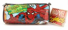 MARVEL COMICS VINTAGE STYLE SPIDERMAN HULK BOYS ZIP BARREL SCHOOL PENCIL CASE