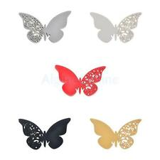 50pcs Butterfly wedding name place cards label tags table glass decoration