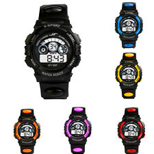 Fashion Women Men Boy LED Digital Date Sport Quartz Alarm Wrist Watch Waterproof