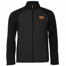Bear Grylls Mens Softshell Jacket Long Sleeve High Neck Chest Pocket Outdoor Top