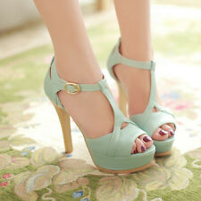 2015 New Summer Fashion Fish Mouth High-heeled Shoes Women Sandals High Heels