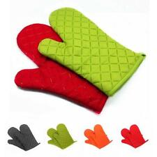 2Pcs Oven Mitts Cotton Oven Gloves Heat Resistant Microwave Oven Kitchen GLOVE