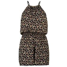 Firetrap Womens Romper Ladies Casual Playsuit Sleeveless Halter Neck Top
