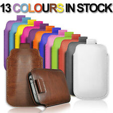 PULL TAB LEATHER POUCH COVER CASE only fits Samsung Galaxy Note N7000, I9220