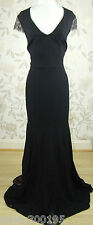 BNWT Debut Debenhams MARISSA Black Lace Long Party Evening Dress Size 16