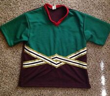 Motionwear Red Grn Maroon CHEER Cheerleading Top Uniform Shirt 9502 MENS Medium