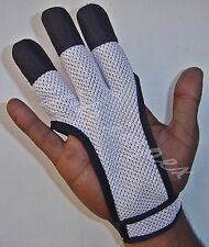ARCHERS MESH SHOOTING 3 FINGERS GLOVE LEATHER FREE GLOVE WHITE COLOUR