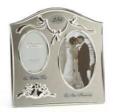 Our Wedding Day Our Anniversary Double Photo Frame for 25th 30th 40th 50th 60th