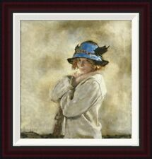 Global Gallery The Blue Hat by Sir William Orpen Framed Painting Print
