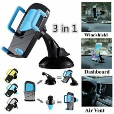 3 in 1 Car Air Vent/Windshield/Dashboard Mount Holder Stand For Smart Phone GPS