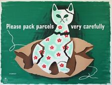 WB55 Vintage Pack Parcels Carefully WW2 World War II Poster Print A2/A3/A4