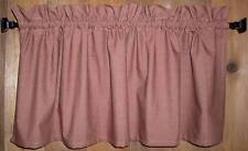 Berry Red Mini Check Homespun Valances Tiers Primitive Country Curtains Cabin