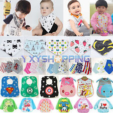 1/3/4Pcs Toddler Baby Newborn Waterproof Feeding Saliva Towel Bandana Apron Bibs