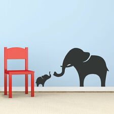 Wallums Wall Decor Mama And Baby Elephant Wall Decal