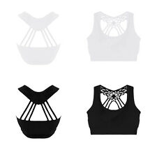 Womens Strappy Sleeveless Ladies Camisole Cotton Lace Tank Tops Black/White