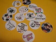 Pre Cut One Inch SOCCER MIX  Bottle Cap Images! FREE SHIP