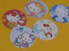 Pre Cut One Inch HELLO KITTY Bottle Cap Images! FREE SHIP