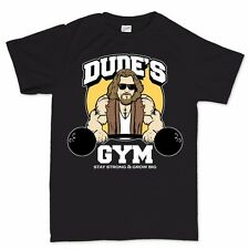 Golds Dude Gym Big Muscle Lebowski Fitness Running Sports New T shirt Tee Top
