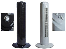 "ELECTRIC 29"" TOWER FAN OSCILLATING 3 SPEED COOLING AIR FREE STANDING 45W W TIMER"