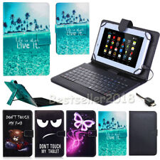 "Protect PU Leather Case Cover USB Keyboard Case For 9.7"" 10"" 10.5"" Tablet PC+Pen"