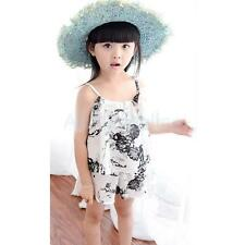 Toddler Girls Sweet Princess Cute Floral Vest and Shorts Summer Outfits Sets
