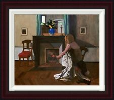 Interior With a Woman In a Shirt by Felix Vallotton Framed Painting Print