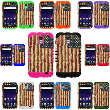 U.S America Flag Hybrid Cover Case for Samsung Galaxy S2 S II SkyRocket i727