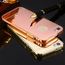 Slim Aluminum Metal Bumper Mirror Back Cover Case Pounch For Apple iPhone 5/5S