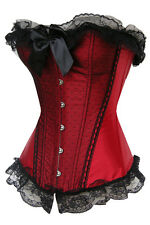 sexy lingerie Corset Basque Bustier red new Satin Full-breast Corsage  45b