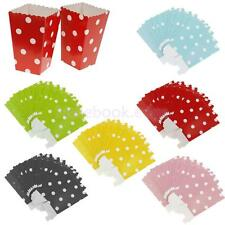 12x POPCORN Snake Box/Bucket Movie Treat Party FOOD/LOOT Paper Bags 6 Colors