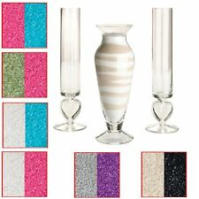 Set of 3 Wedding Ceremony Glass Unity Vase With 2 Different Coloured Sand